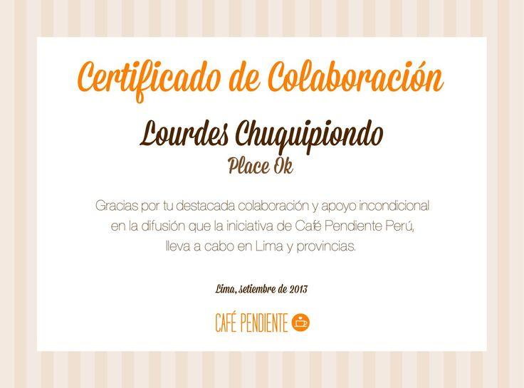 """Súper contenta y emocionada de ser parte de esta maravillosa iniciativa: Café pendiente, Perú. Es hora del cambio en nuestro país, el ser solidarios no es cuestión de moda sino de humanidad. Dejar un plato o un café pendiente en los """"huariques"""" que frecuentas para una persona en necesidad es gratificante. ¡Súmate a esta hermosa iniciativa!"""