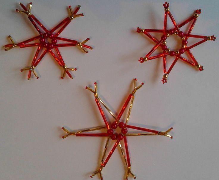 Sada vánočních ozdob - červená 1