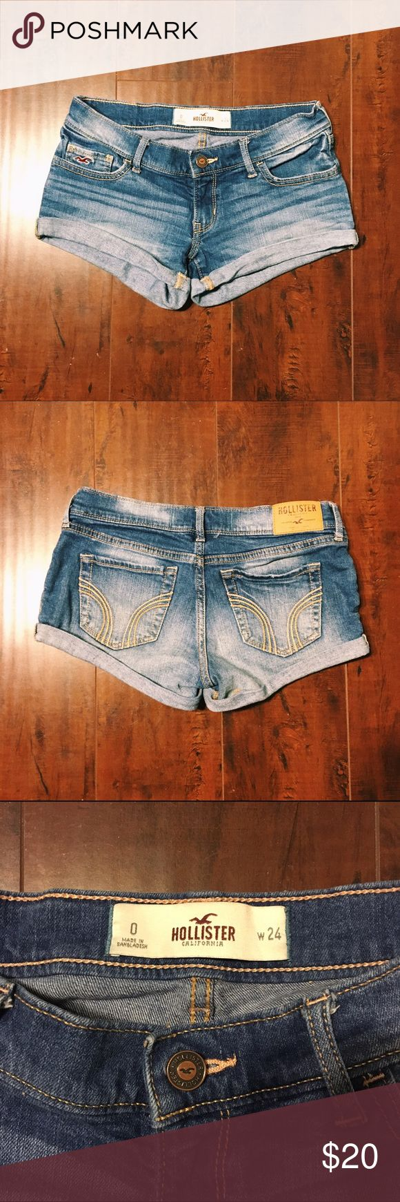 HOLLISTER SHORTS SIZE 0 I'm selling a pair of size 0 light wash Hollister shorts. Feel free to comment with any questions and bundle to save! Thanks for looking!  Hollister Shorts Jean Shorts
