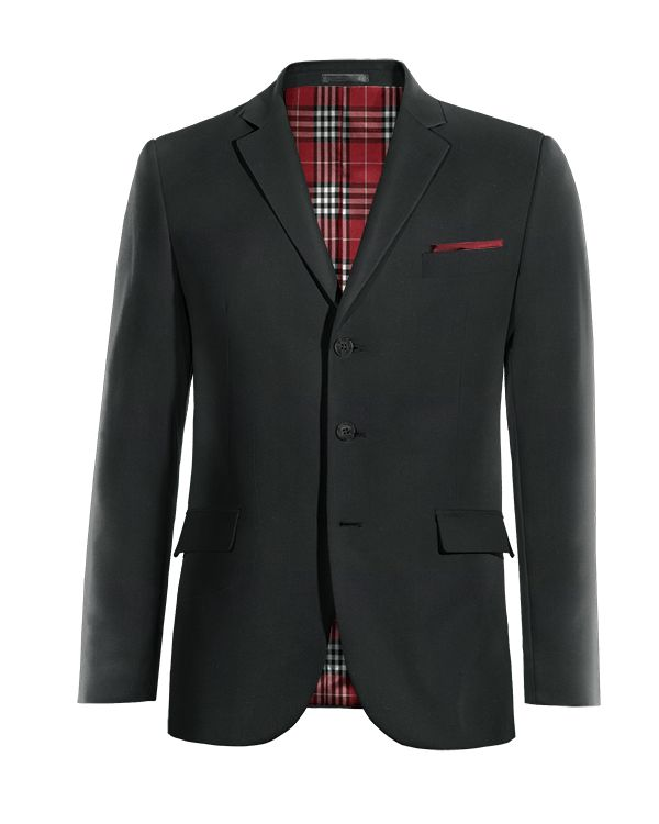 Black Merino wool Blazer http://www.tailor4less.com/en/men/blazers/4049-black-merino-wool-blazer