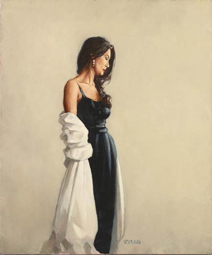 Portrait in Black by Jack Vettriano