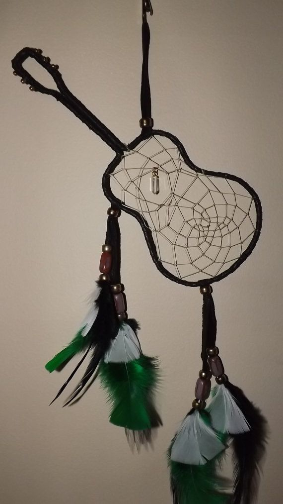 Guitar dream catcher free shipping with in by LandonsDreamCatchers,