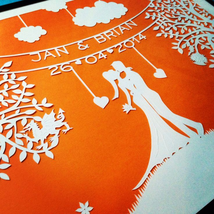 Wedding paper-cut | Emily Beach Design