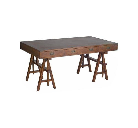 Skrivbord i med rustik skiva, 3 st lådor.B:150 cm H:77-89 cm D:85 cm, 12 700 kr