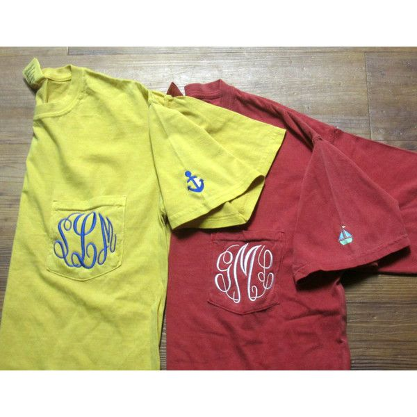 "Comfort Colors Monogrammed Pocket T-shirt with a ""What Not"" ($29) ❤ liked on Polyvore featuring tops, t-shirts, monogrammed pocket shirts, summer shirts, t shirt, monogram pocket tee and monogrammed pocket t shirts"