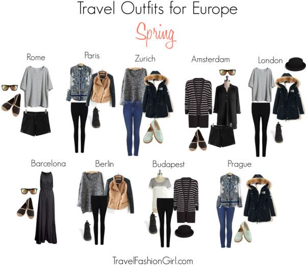 Are you Backpacking in Europe this Spring? Check out the ultimate packing list including clothing suggestions, weather summary, and travel outfit ideas!