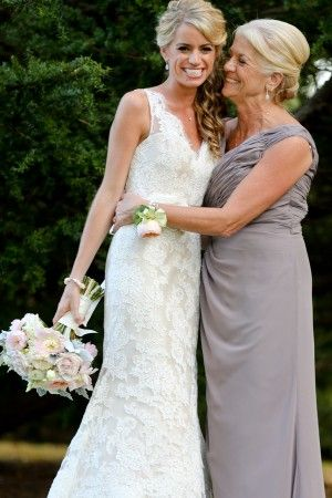 A must have wedding pic! bride & mother of the bride portrait!