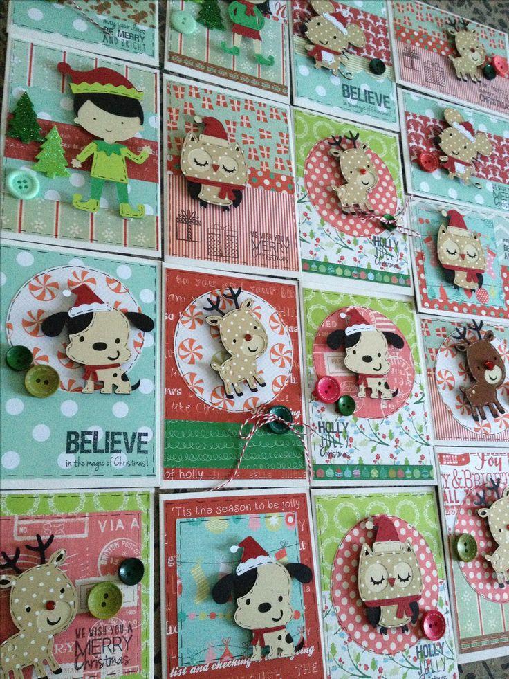 cricut christmas create a critter cards