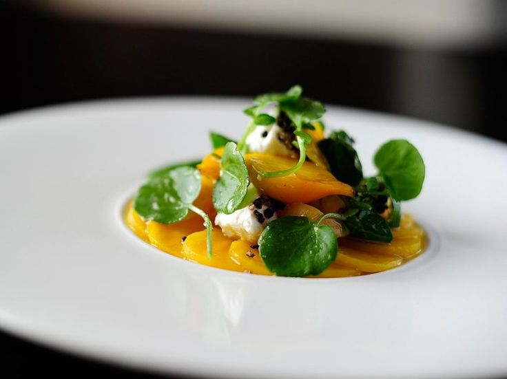 Simon Hulstone's golden beetroot salad with goat's cheese and elderflower dressing will be a starter in the British Airways' Club cabin.