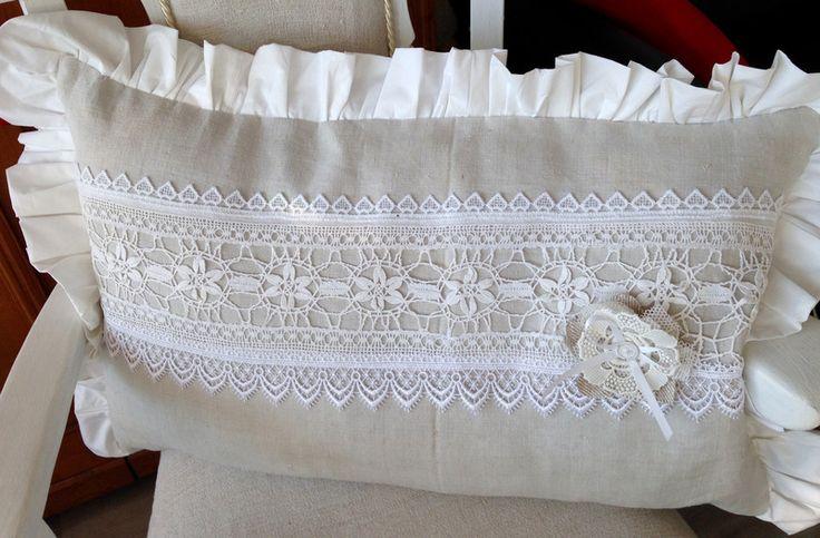 Kissen - Kissenhülle antik Shabby 40x60 - ein Designerstück von gittirai bei DaWanda