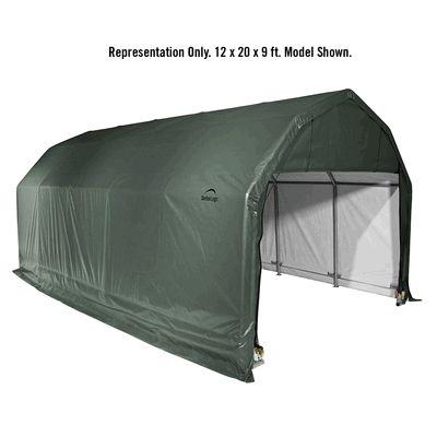 ShelterLogic 12 x 20 x 9 Barn Style Portable Garage Canopy - Green