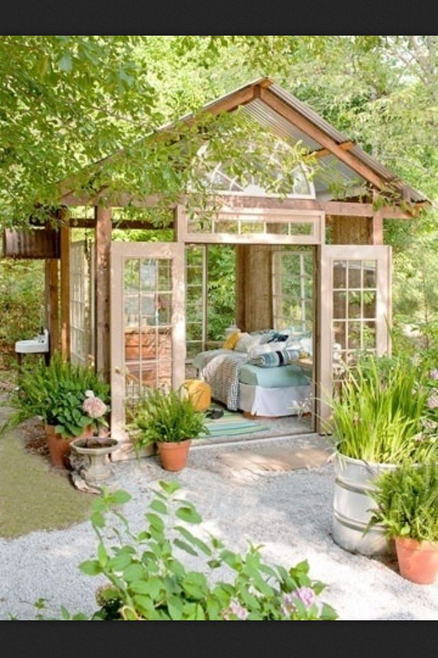 Outdoor room for the summertime. I have always dreamed of having one of these…