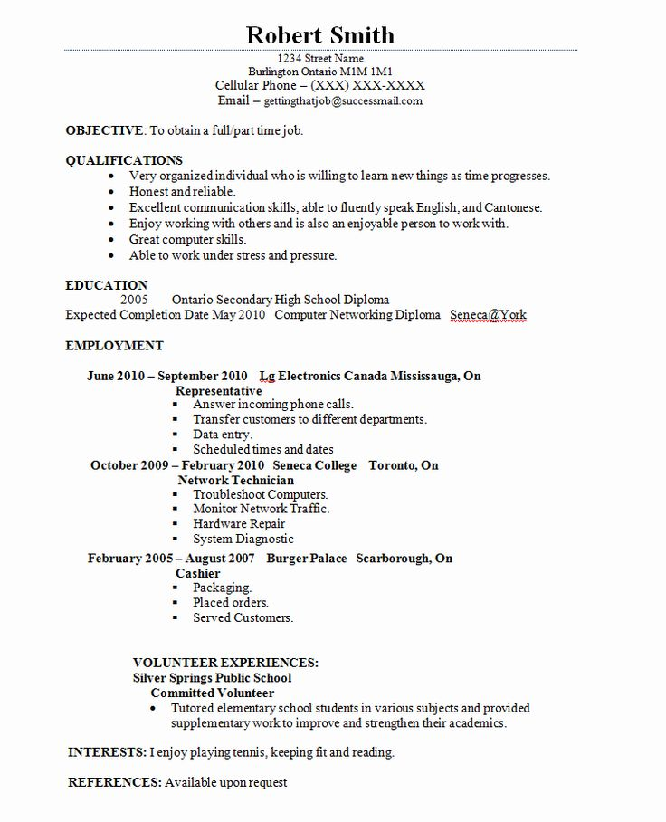 Part time job resume examples awesome pin by resumejob on