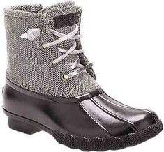 Girls' Sperry Top-Sider Saltwater Duck Boot - Grey Synthetic/Rubber with FREE Shipping & Exchanges. Take on the cold weather in the Sperry Saltwater Duck Boot for girls. This