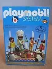PLAYMOBIL LYRA 3251 Indian Tribe Family (1976) GREEK RARE MIB NEW VINTAGE