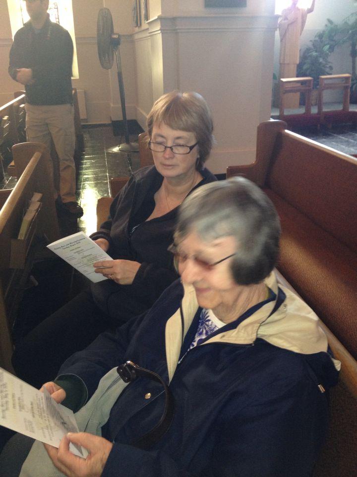 Mom and Kathy at my pinning