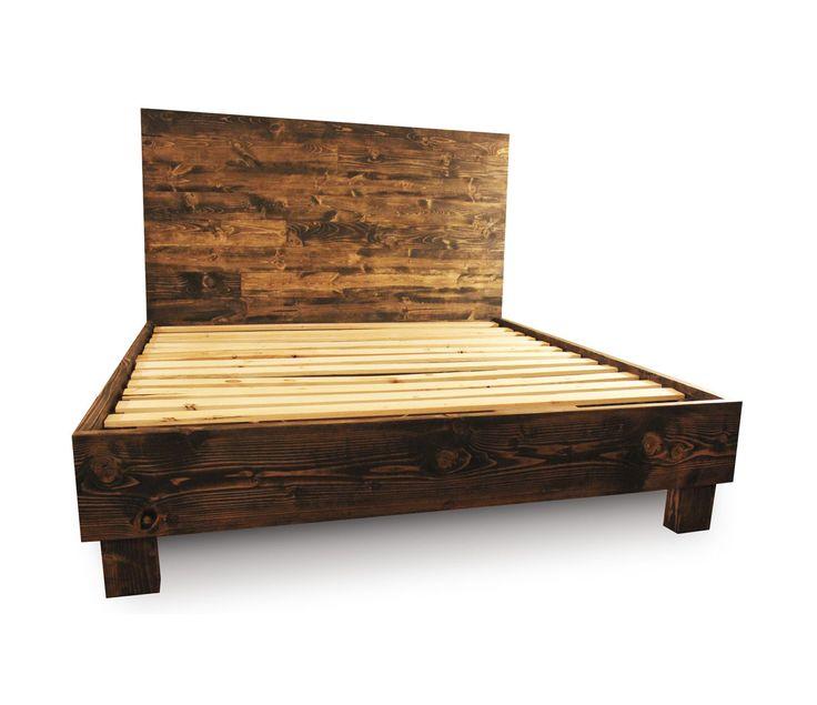 top 25 best rustic wood bed frame ideas on pinterest shiplap headboard diy master bedroom furniture and diy headboard wood - Wooden Bed Frame