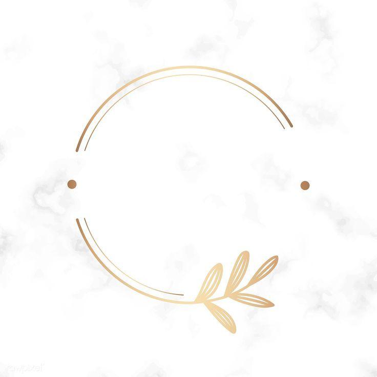 Laden Sie die erstklassige Illustration des runden Blumenmusterlogos auf einem Marmor herunte…