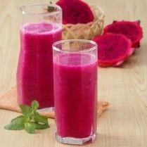 Jus buah naga sirsak, minuman sehat yang tampilannya ceria. Yuk lihat resepnya.