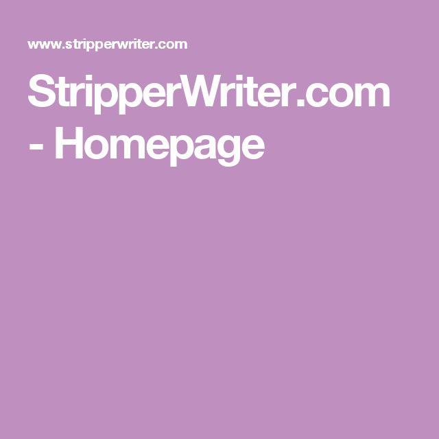 StripperWriter.com - Homepage