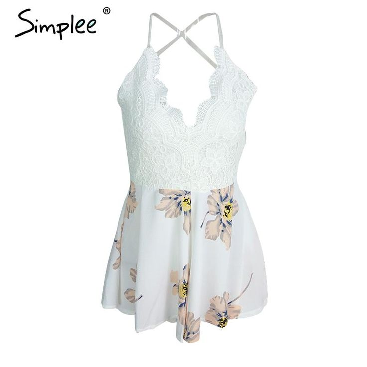 FREE SHIPPING Sexy backless chiffon summer playsuit Women boho floral short JKP258