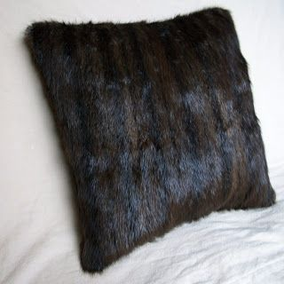 Nicole Corbett - Art and Design: Real Fur Pillow made from Recycled Vintage Coat