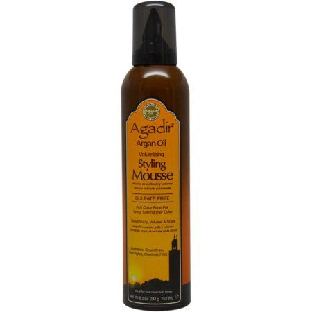 Argan Oil Styling Mousse by Agadir for Unisex, 8.5 oz