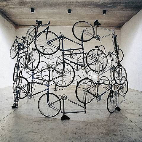 Ai Wei Wei's Forever Bicycle Installation.  Really cool!