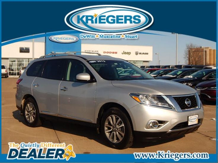 Used 2013 Nissan Pathfinder SL for sale in Muscatine - Krieger Motor Company - Muscatine Iowa - 5N1AR2MM4DC600393