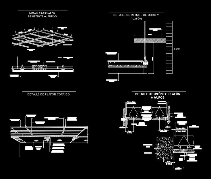 Finish plafon (dwgAutocad drawing)