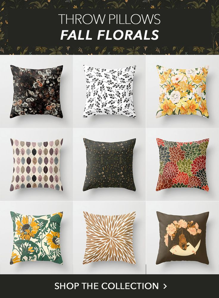 Shop the trend were loving right now fall florals our throw pillows