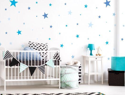 17 besten wandsticker sterne f r das kinderzimmer bilder. Black Bedroom Furniture Sets. Home Design Ideas