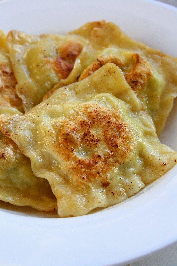 Goat Cheese Potato Ravioli with Garlic and Dill