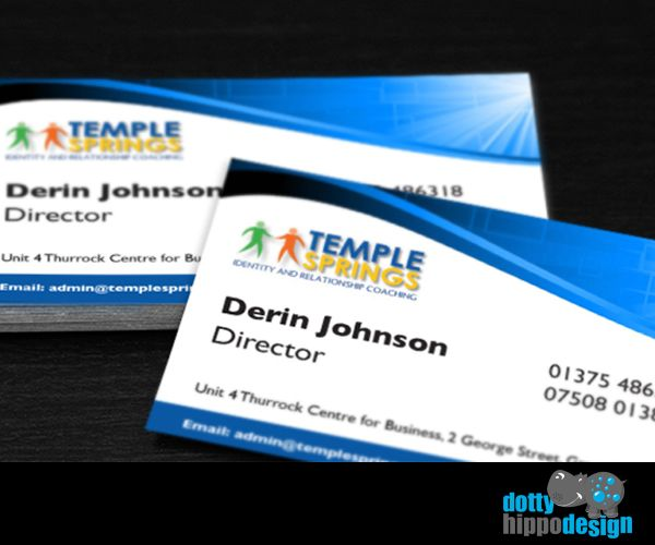 Business card design for Temple Springs
