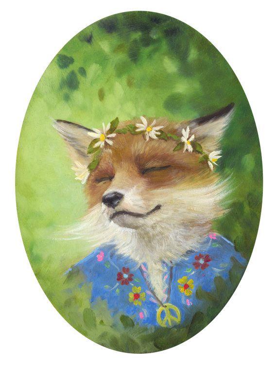 Foxy fox kids room art print