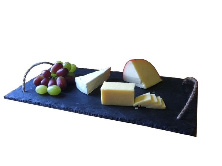 Natural Slate Cheeseboard 20 x 40cm with rope.
