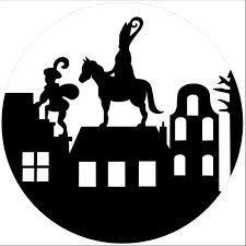Sinterklaas transparant/silhouette | Barbaramama