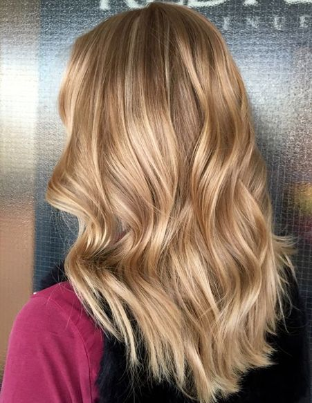 Rose Gold Hair Color Ideas for Caramel Blonde Long Hairstyles 2018
