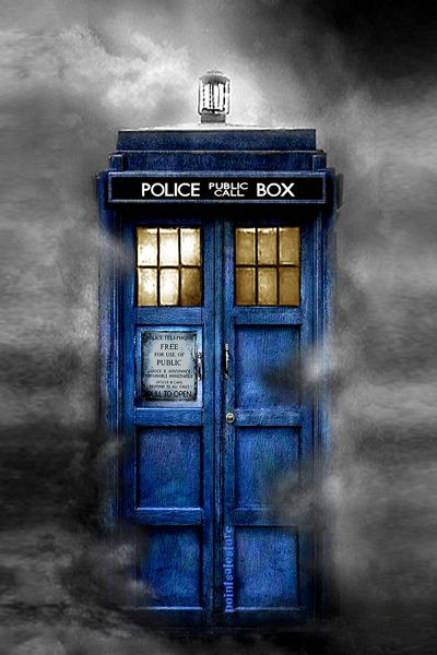 Tardis Doctor Who In The Mist Art Print