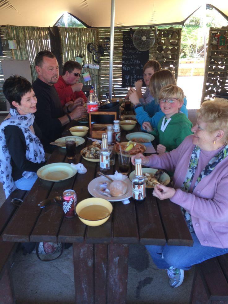 CUBATA - a spread of Portuguese food best enjoyed as a group Prawns Espatada Ribs Chicken