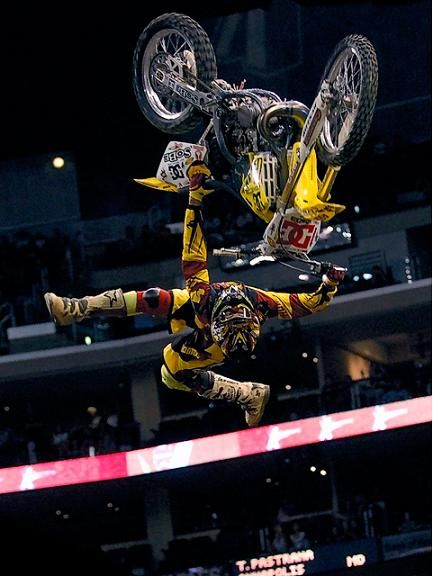Travis Alan Pastrana is an American motorsports competitor and stunt performer who has won championships and X Games gold medals in several events, including supercross, motocross, freestyle motocross, and rally racing.