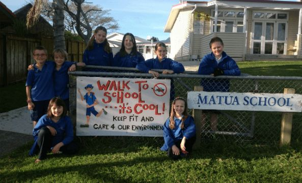 Greater engagement with the wider community has been one of the many positives of Matua Primary School's commitment to safe walking practices to school.
