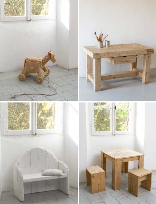 Rustic kid's furniture. I know someone whose father-in-law would probably LOVE to do this for his little grandbaby :)