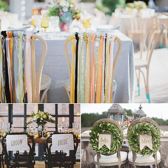 DIY Chair Backs For The Bride And Groom!