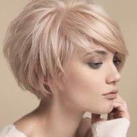 asymmetrical short hairstyle                                                                                                                                                     More
