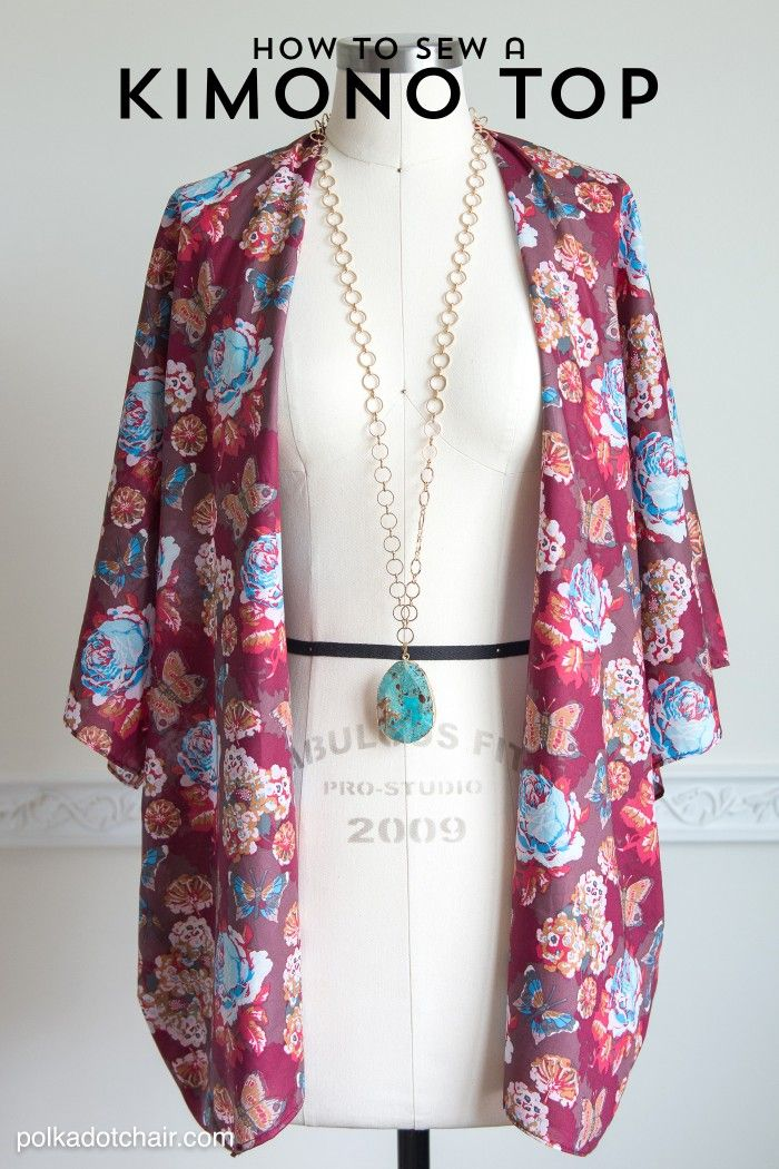 How to sew a cute Kimono Jacket, a sewing pattern and DIY fashion tutorial - by Melissa Mortenson of polkadotchair.com