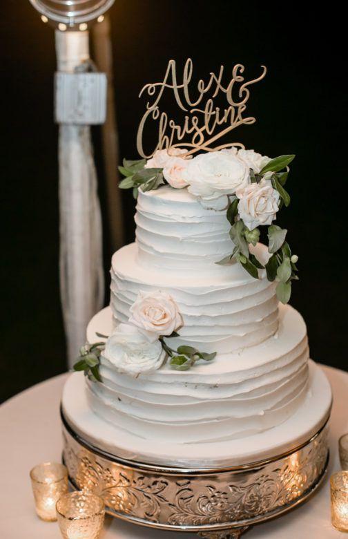 Weiße Hochzeitstorte   – Hochzeit