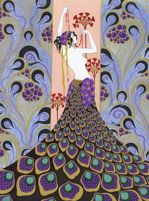 ERTÉ (1892-1990)  1º éxodo de Aportaciones europeas. _Principal representante del Art Decó en EEUU. _Dibujo estilizado. _Decoraciones exóticas.