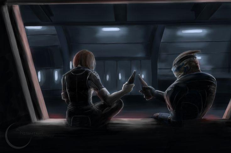 Shepard and Garrus - Mass Effect - by ~Armesan on deviantART