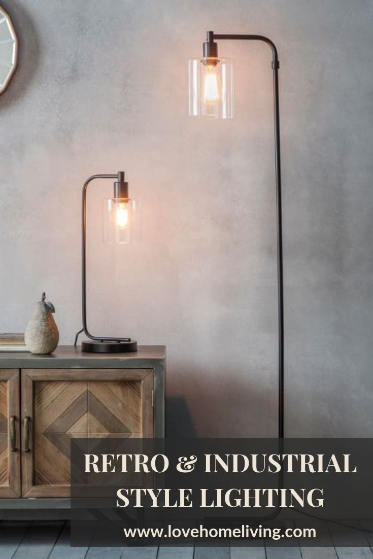 Our Rustic Industrial Style Chicago Table And Floor Lamp Perfect For The Home Office Living Lamps Living Room Living Room Lighting Industrial Style Lighting